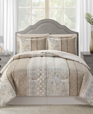 Sunham CLOSEOUT! Helena Reversible 8-Pc. Full Comforter Set & Reviews - Bed in a Bag - Bed & Bath