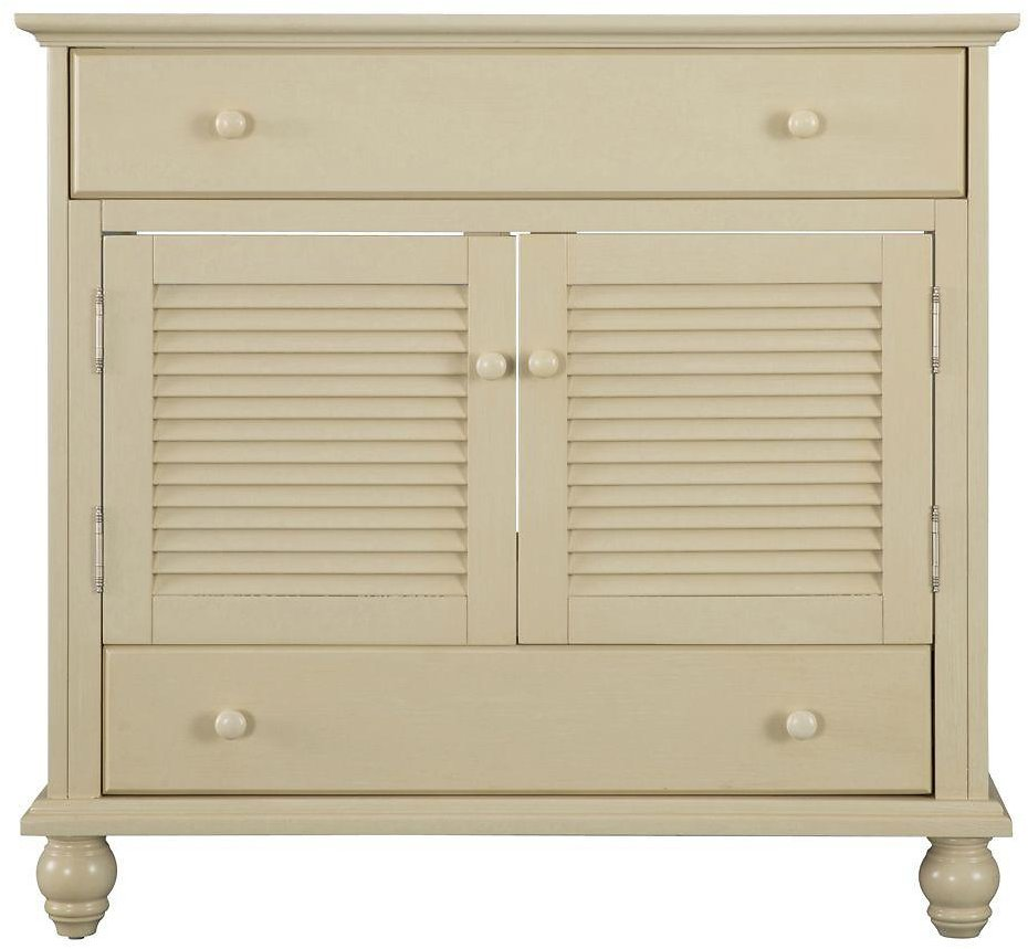 (Ships Free) Cottage 36 In. W Bath Vanity Cabinet Only in Antique White