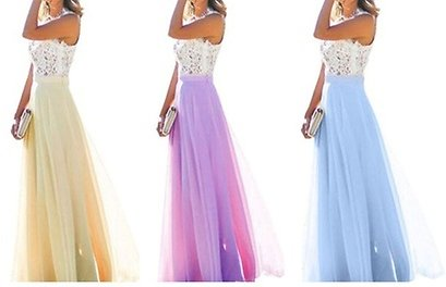 Women Chiffon Evening Dresses Long Prom Bridesmaid Gown Maxis Dress