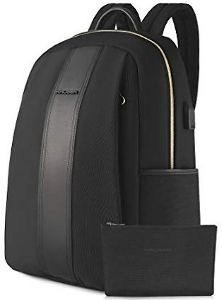 KROSER Laptop Backpack 15.6 Inch Computer Backpack Fashion School Backpack Water-Repellent Nylon Casual Daypack with USB Charging Port for Travel/Business/College/Women/Men-Black: Computers & Accessories