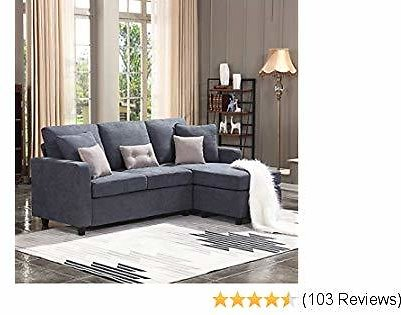 Honbay Convertible Sectional Sofa Couch L-Shaped w/Linen Fabric