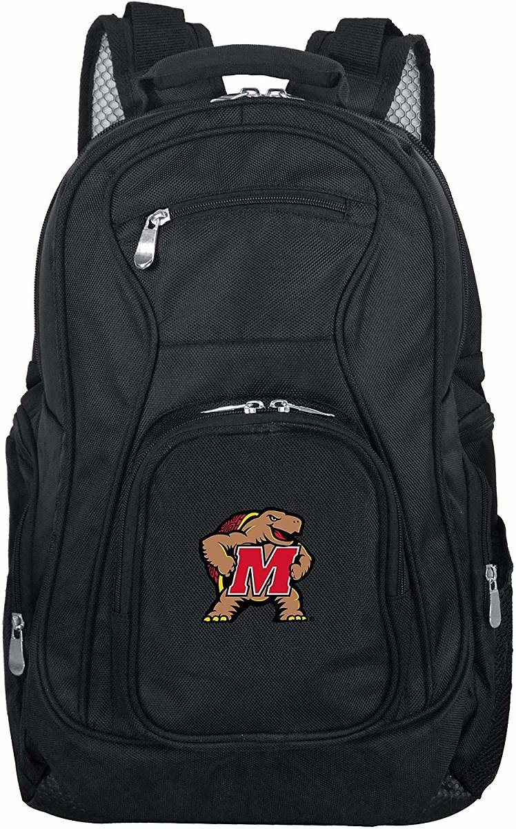 Denco NCAA Maryland Terrapins Voyager Laptop Backpack, 19-inches, Black