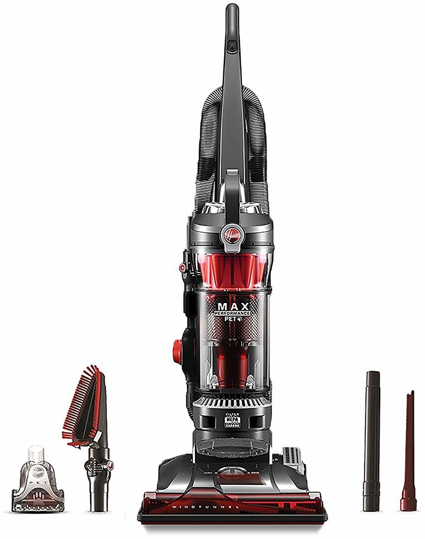 Hoover WindTunnel 3 Max Performance Upright Vacuum Cleaner, Powerful Suction for Pet Hair, UH72625, Red