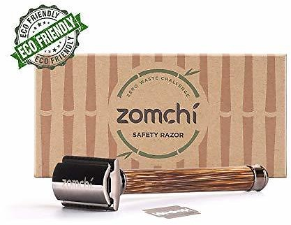 35% Off Double Edge Safety Razor for Men or Women, Eco Razor with Natural Bamboo Handle $11.69