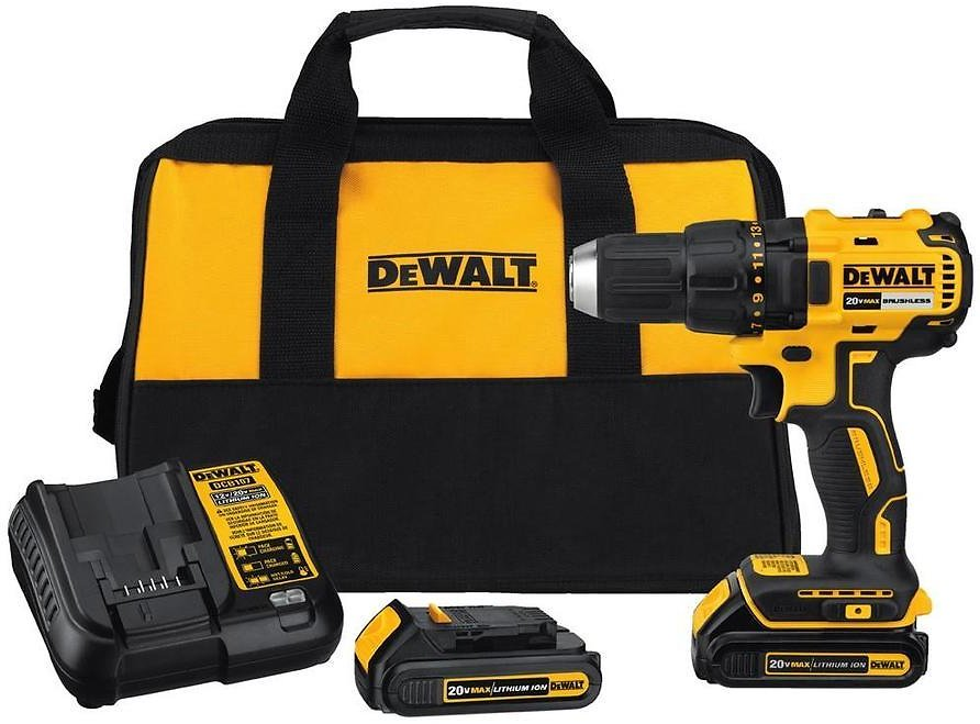 DEWALT 20-Volt Max 1/2-in Brushless Cordless Drill (Charger Included and 2-Batteries Included) At Lowes.com