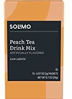 Amazon Brand - Solimo Peach Tea Drink Mix Singles (10 Packets)