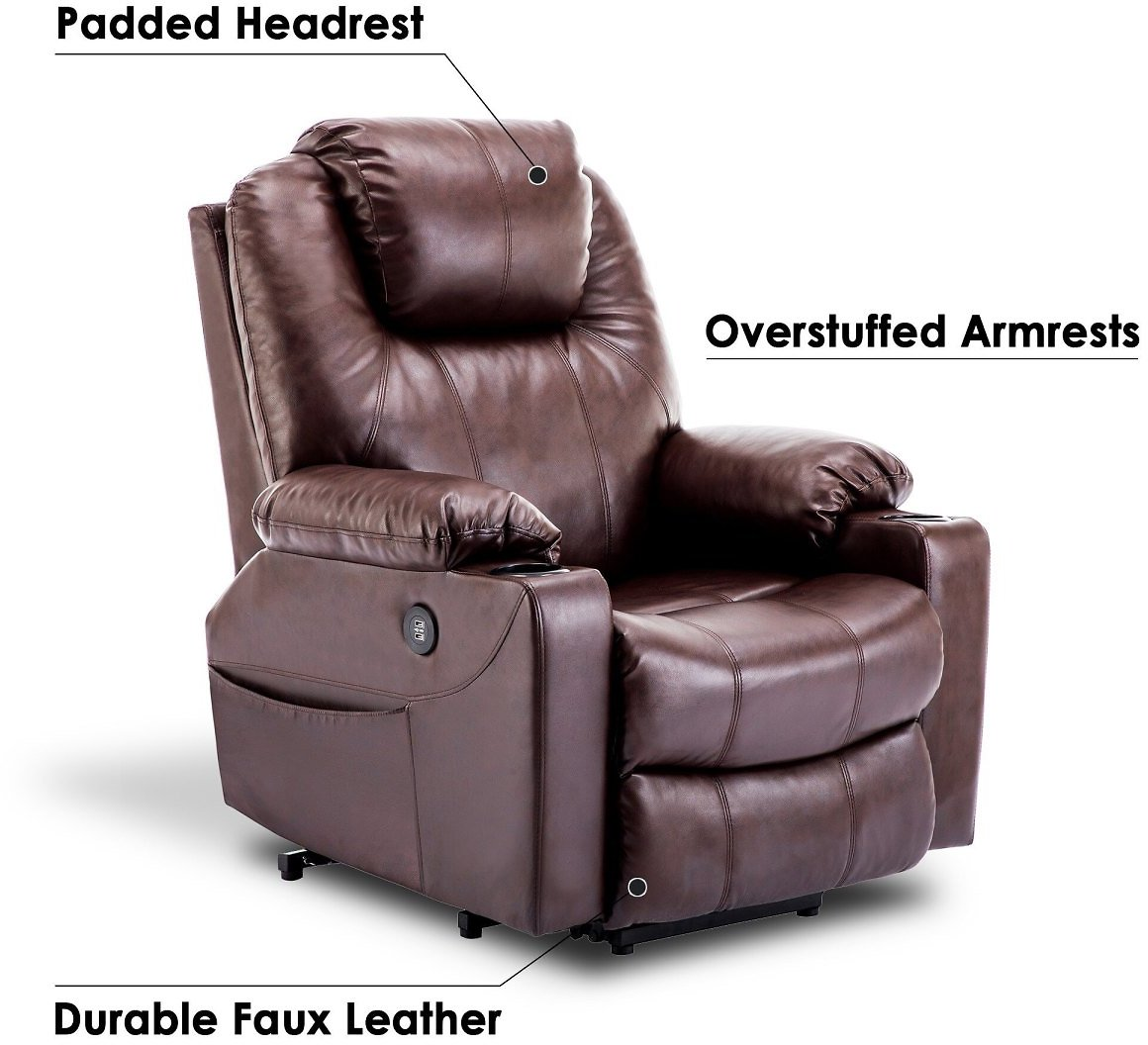 MCOMBO ELECTRIC POWER LIFT RECLINER MASSAGE SOFA HEATED CHAIR LOUNGE W/REMOTE CONTROL USB CHARGING PORTS