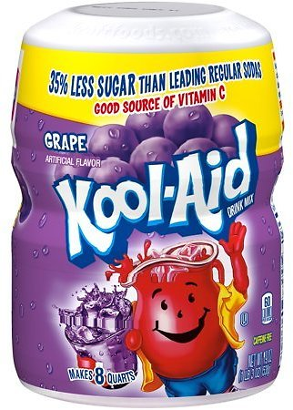 (6 Pack) Kool-Aid Sugar-Sweetened Grape Powdered Soft Drink, 19 Oz Jar