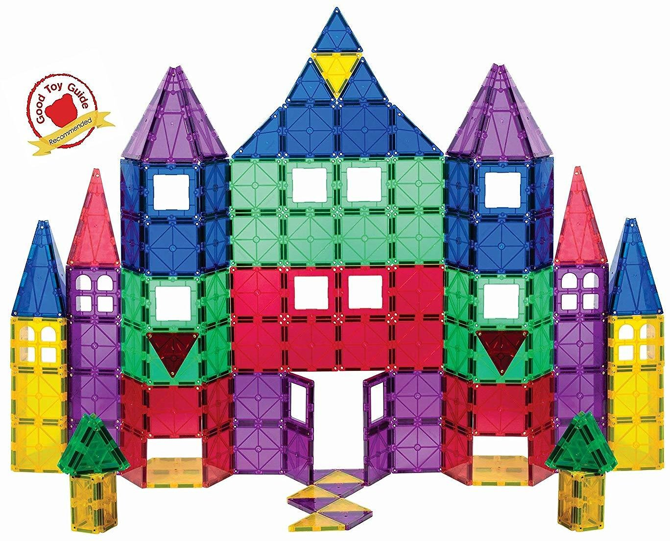 100-Piece Playmags 3D Magnetic Blocks