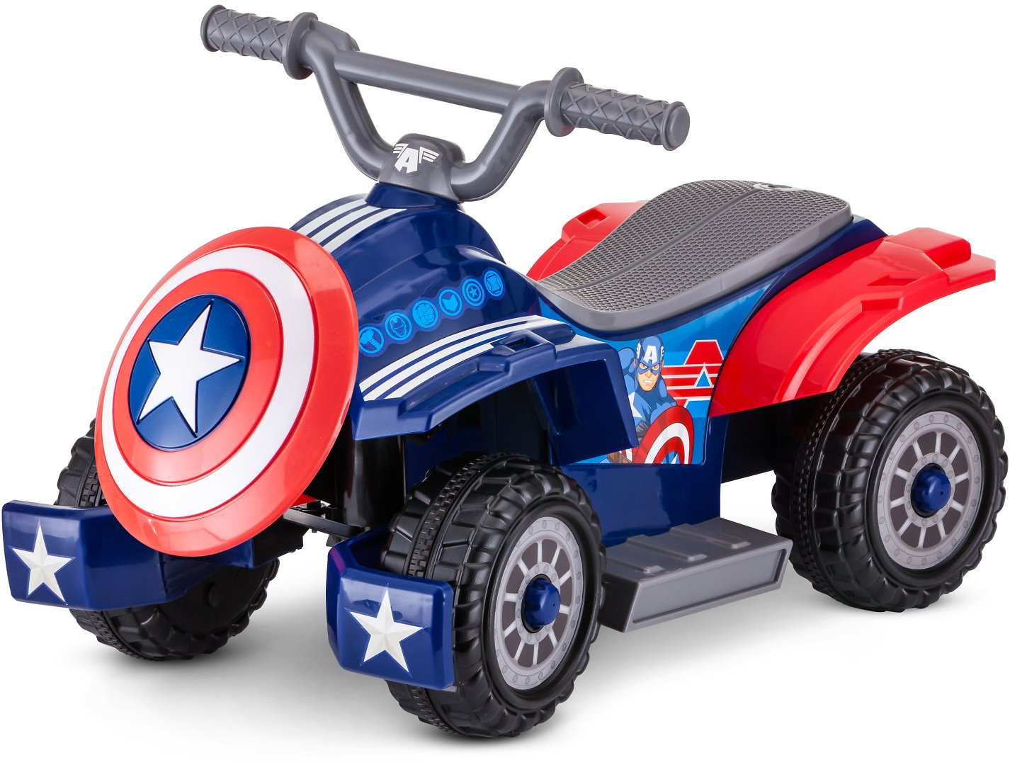 Marvel's Captain America Toddler Quad, 6-Volt Ride-On Toy By Kid Trax
