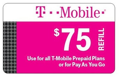 T-Mobile $75 Prepaid Refill Card (Email Delivery)
