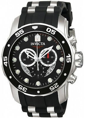 Invicta Mens Pro Diver 6977 Polyurethane, Stainless Steel Chronograph Watch 843836069779