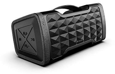 Portable Bluetooth Speakers, IPX5 Waterproof Speakers with 24W Stereo Sound, Bluetooth 4.2 and Built-in Mic, 20H Playtime Outdoor Speakers, Durable Design Suitable for Travel, Party, Camping, Black