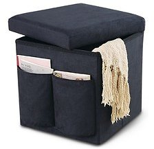 SOHL Furniture Foldable Storage Ottoman (7/17)