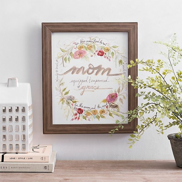 Mom Equipped and Empowered Framed Art Print