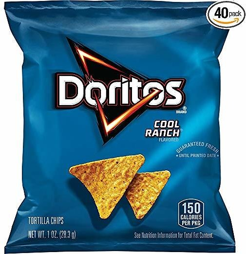 Pack of 40 Doritos Cool Ranch Flavored Tortilla Chips, 1 Ounce