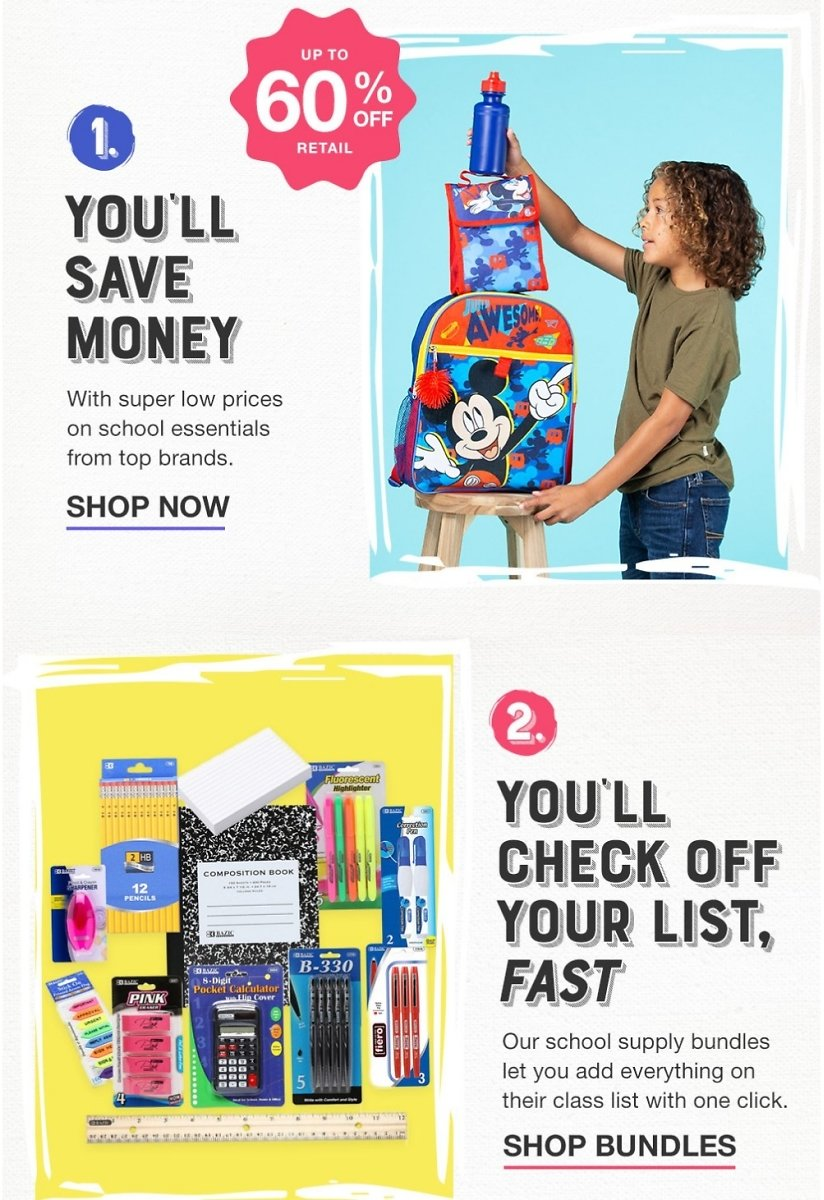 Up to 60% Off Back to School Deals