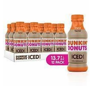 Dunkin Donuts Iced Coffee, Original, 13.7 Fluid Ounce (Pack of 12): Grocery & Gourmet Food