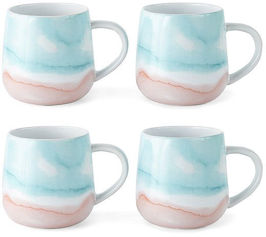 4-Piece JCPenney Home Brunch Coffee Mugs