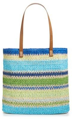 (2 Colors) Martha Stewart Collection Straw Tote Bag