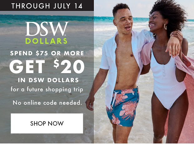 Spend $75 Or More & Get $20 DSW Dollars - DSW