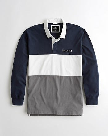 Guys Colorblock Rugby Polo | Guys Clearance | HollisterCo.com