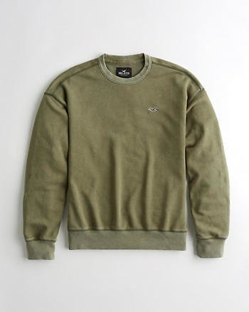 Guys Oversized Terry Crewneck Sweatshirt | Guys Clearance | HollisterCo.com