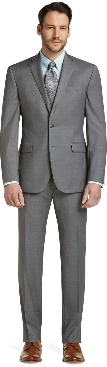 Traveler Collection Slim Fit Micro Weave Suit