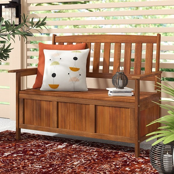 Arianna Outdoor Hardwood Garden Bench