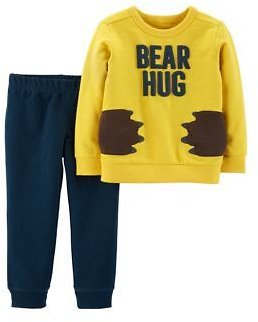 Carter's® Carter's® Baby Boys 2-Piece Bear Hug Pullover and French Terry Jogger Set