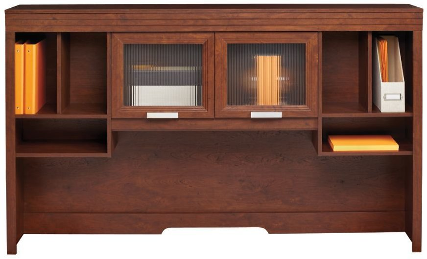 Realspace Marbury Collection Hutch Auburn Brown - Office Depot