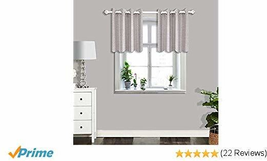 CSOFT Blackout Thermal Insulated Window Curtains(Valance) with Grommets Top Darkening Drapes for Bedroom Living Room