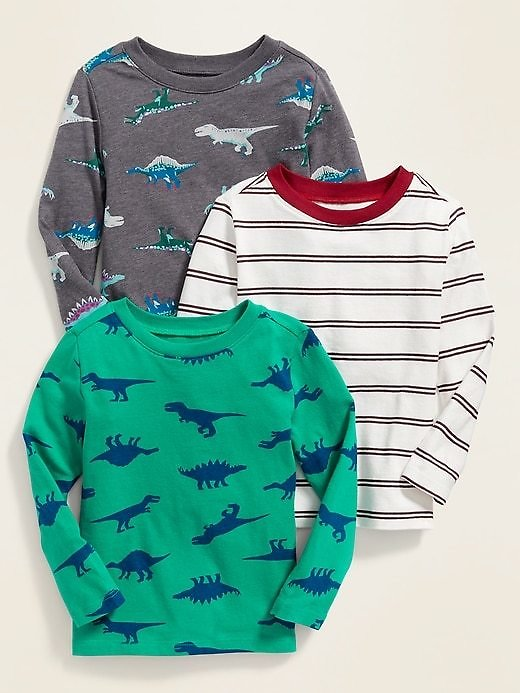 3-Pack of Crew-Neck Tees for Toddler Boys