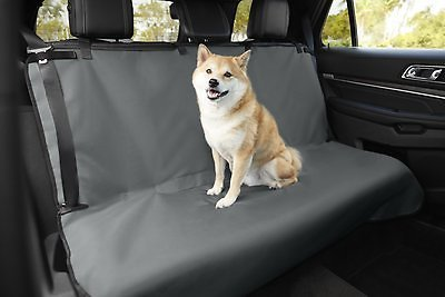 Frisco Water Resistant Bench Car Seat Cover, Regular, Gray