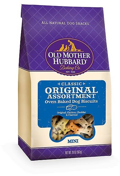 Old Mother Hubbard Classic Original Assortment Biscuits Baked Dog Treats, Mini, 20-oz Bag - Chewy.com