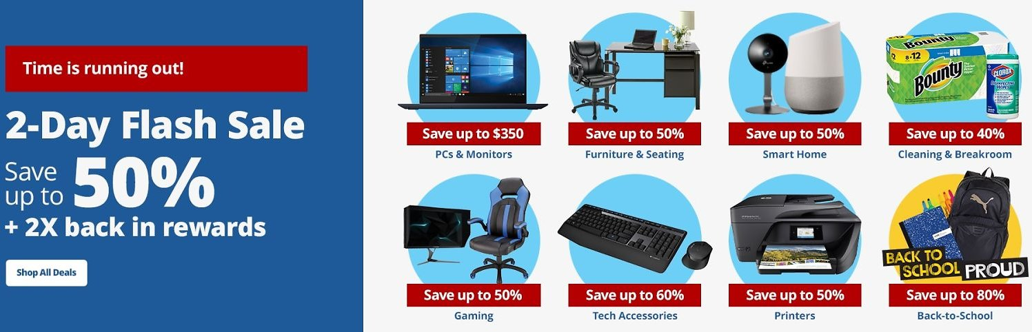 Up To 50% Off 2-Day Flash Sale - Office Depot