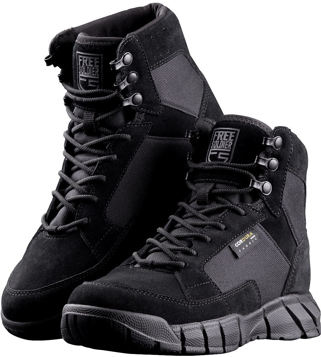 40% Off FREE SOLDIER Men's Tactical Boots 6 Inch Lightweight Breathable Military Boots for Hiking Work Boots