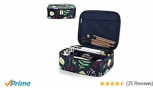 Makeup Bag Travel Cosmetic Bag for Women Girls,Make Up Organizers And Storage for Cosmetics Accessories, Large-capacity, Water-proof, Antimicrobial