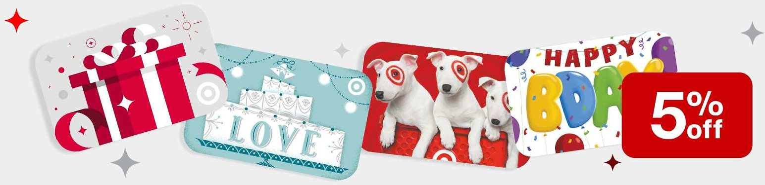 Today Only! 5% Off Target Mobile & Email GiftCards