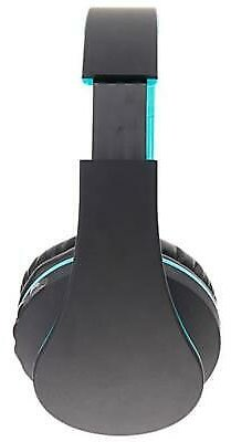 HY-811 Foldable FM Stereo MP3 Player Wired Bluetooth Headset Black & Blue 699974014771