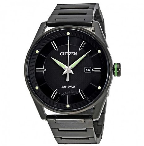 Citizen Eco-Drive Black Men's Watch BM6985-55E