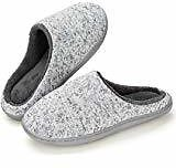 Amazon.com | K KomForme Women Memory Foam Slippers, Cozy Flannel Winter House Shoes with Star Pattern and Anti-Slip Sole | Slippers