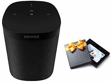 Sonos One (Gen 2) - Voice Controlled Smart Speaker with Amazon Alexa Built-in - Black with $50 Amazon.com Gift Card: Home Audio & Theater
