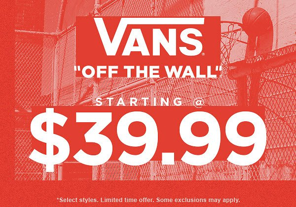 Vans Shoes Starting From $39.99 | Journeys