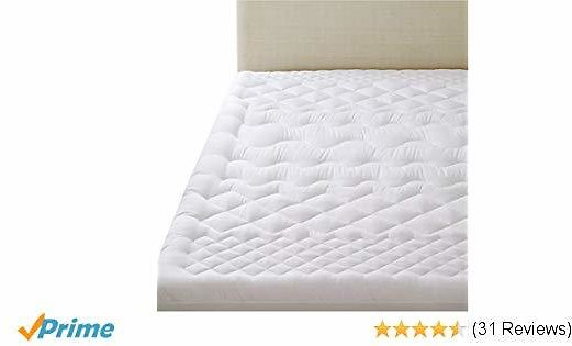 Bedsure Queen Mattress Pillow Top Overfilled Mattress Pad with Fitted Skirt (up to 18