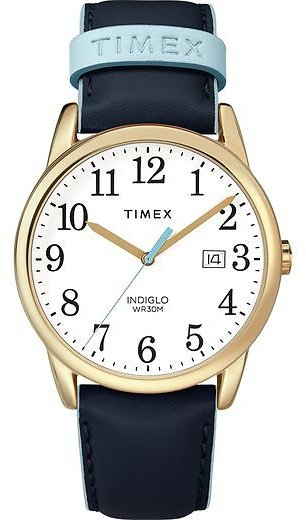 Women's Timex Easy Reader Color Pop 38mm Leather Strap Watch