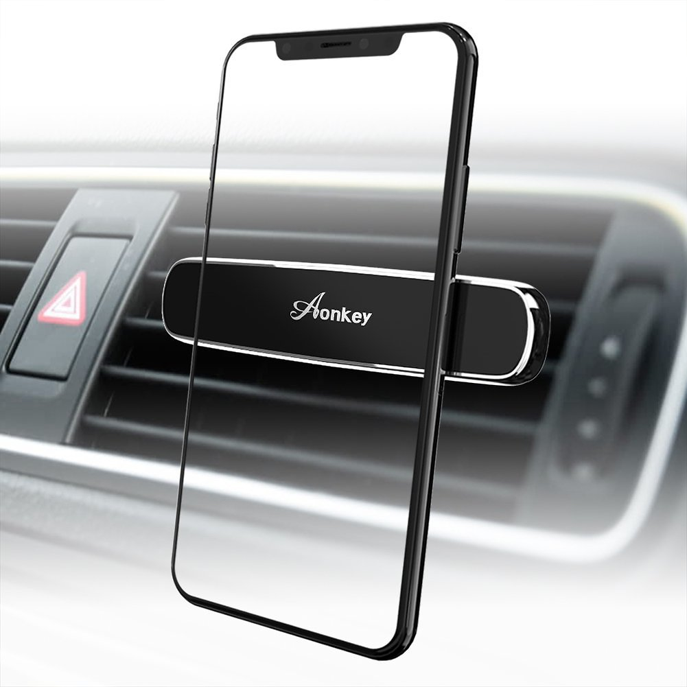 Aonkey Magnetic Phone Car Mount, Air Vent Cell Phone Holder for IPhone X/8/7 Plus/6S/6S Plus Samsung Galaxy S8/S9 Plus/S7/S7 Edge LG Google Pixel HTC Huawei,Universal Fits Other Smartphones