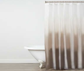 Just Home Gray & White Ombré PEVA Shower Curtain - Big Lots
