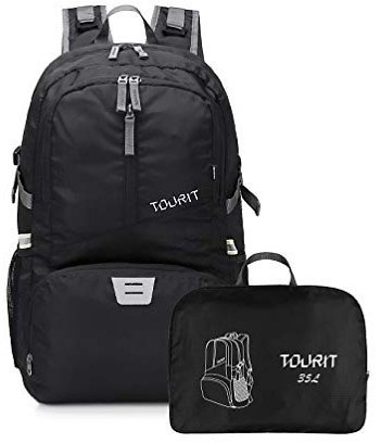 TOURIT Lightweight Packable Travel Hiking Backpack Foldable Daypack Waterproof Back Packs for Hiking, Large Capacity 35L for Men Women to Picnics Sport Outdoor : Sports & Outdoors