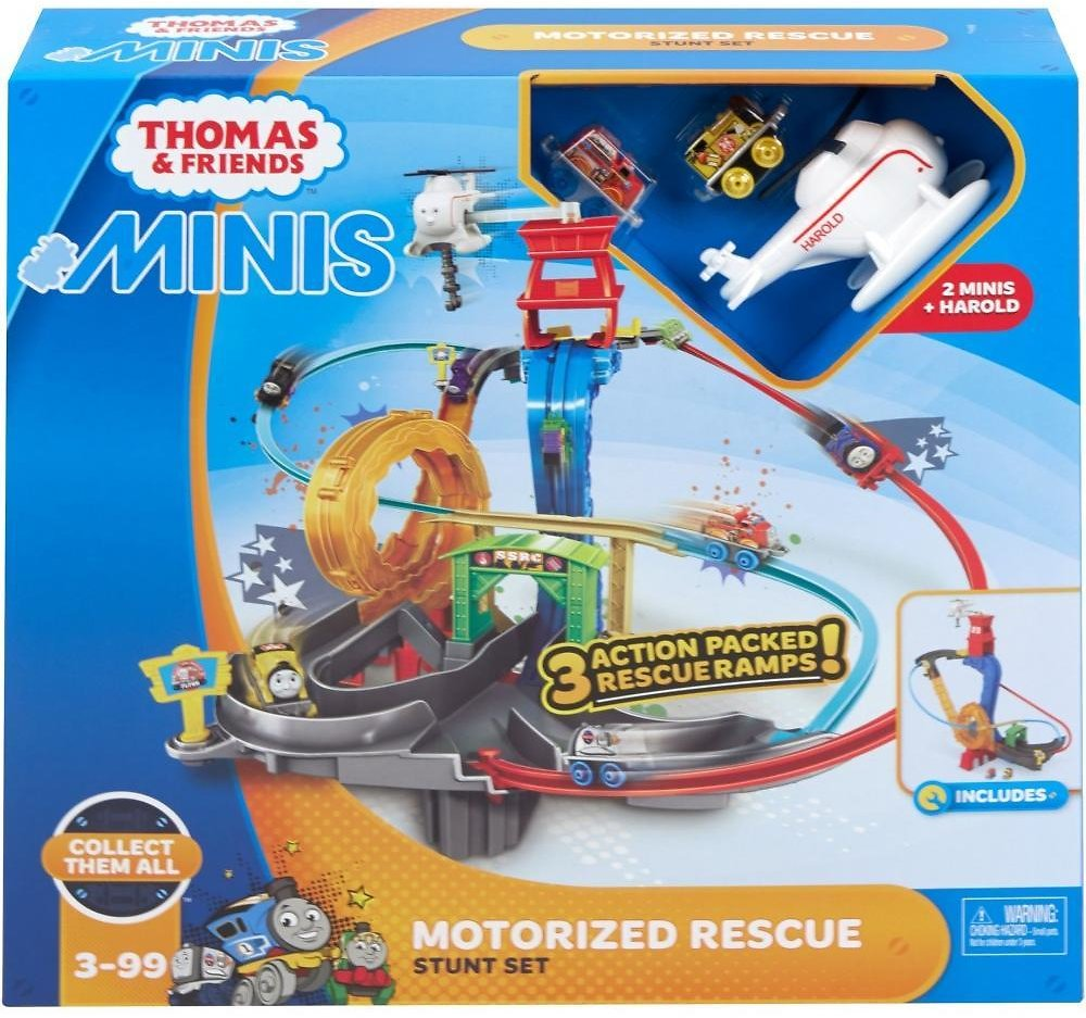 Thomas & Friends MINIS Motorized Rescue Stunt Track  (Includes Thomas and Flynn MINIS engines)